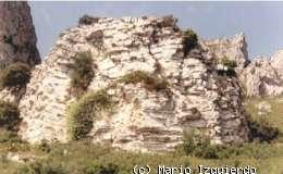 Vandellós: Detalle de dolomías estratificadas