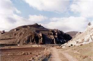 Riba de Santiuste: Triásico: contacto Muschelkal - Buntsandstein
